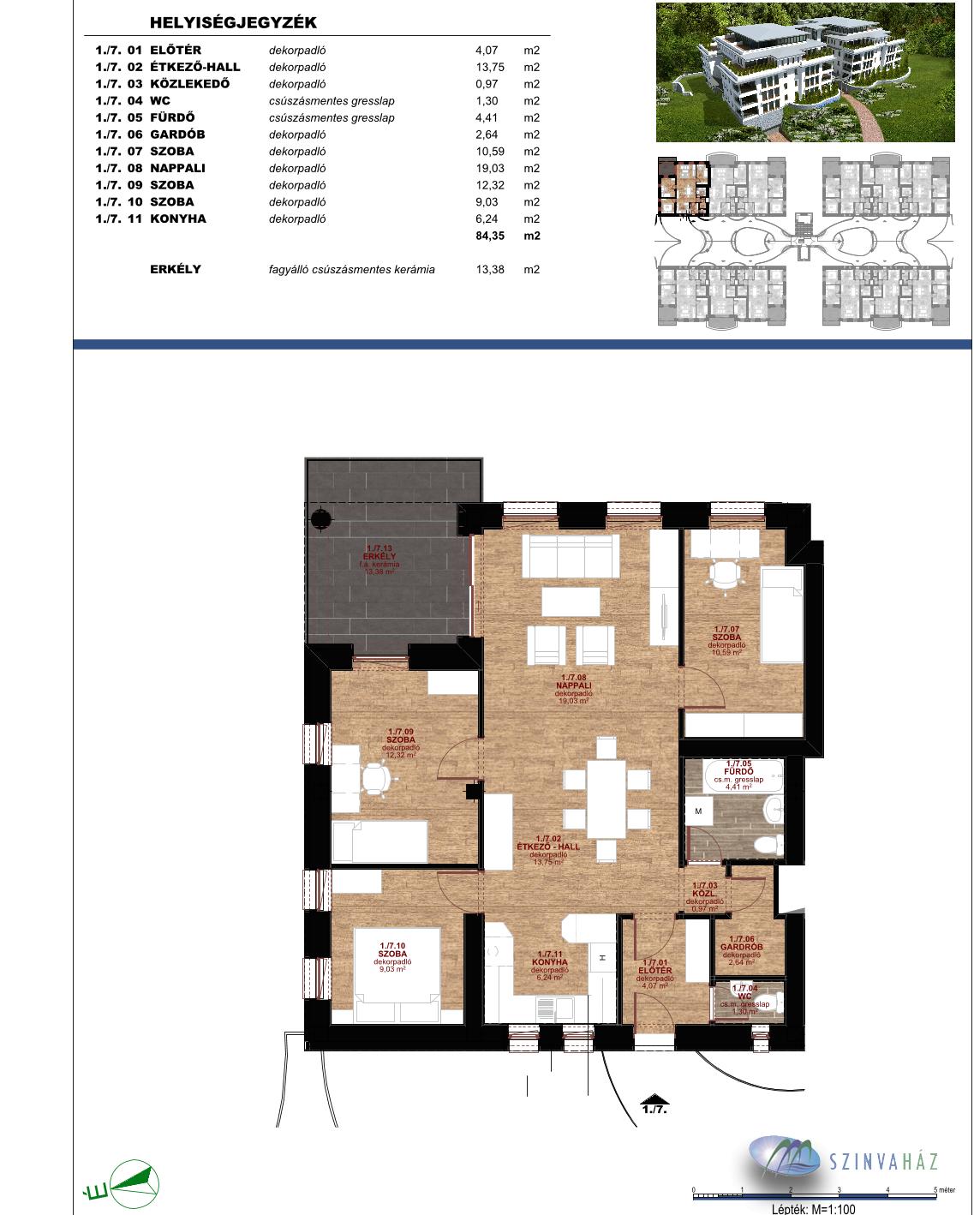 Eladó 2 szobás új építésű lakás- Miskolc Oxygen Garden